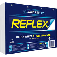 REFLEX A4 ULTRA WHITE COPY PAPER 4 HOLE PUNCHED 80GSM WHITE PACK 500 SHEETS