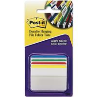 POST-IT 686A-1 DURABLE FILING TABS ANGLED 4 ASSORTED COLOURS PACK 24