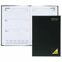 OFFICE NATIONAL 2020 DIARY 2 DAYS TO PAGE 1 HOUR A4 BLACK