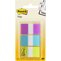 POST-IT 680-PBG FLAGS 25MM COMBINATION PACK 20 FLAGS EACH COLOUR 24 X 4POST-ITM PURPLE, BLUE, GREEN