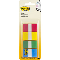 POST-IT 680-RYBG2 FLAGS 25MM COMBINATION PACK 40 FLAGS OF EACH COLOUR 24 X 4POST-ITM RED, YELLOW, BLUE, GREEN
