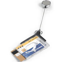 DURABLE CARD HOLDER DELUXE ACRYLIC PRO DUO WITH REEL