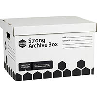 MARBIG STRONG ARCHIVE BOX 420 X 320 X 260MM PACK 3