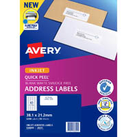 AVERY 936049 J8651 QUICK PEEL ADDRESS LABEL WITH SURE FEED INKJET 65UP WHITE PACK 50