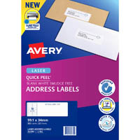 AVERY 952002 L7162 QUICK PEEL ADDRESS LABEL WITH SURE FEED LASER 16UP WHITE PACK 20