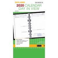 DEBDEN 2020 DAYPLANNER DESK EDITION REFILL 2 PAGES PER DAY 216 X 140MM WHITE
