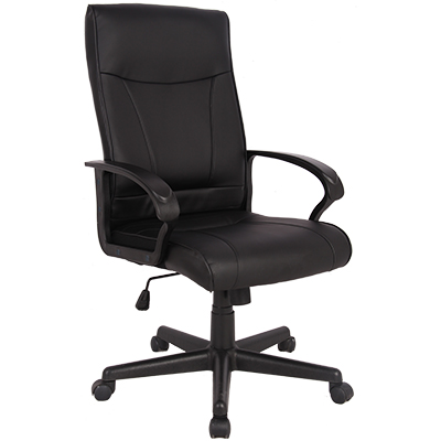 Image for SYLEX HEMSWORTH EXECUTIVE CHAIR 1-LEVER BONDED LEATHER BLACK from OFFICE NATIONAL CANNING VALE, OFFICE TOOLS OPD & OMNIPLUS