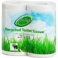 TRU SOFT TOILET TISSUE RECYCLED 2 PLY 400 SHEET PACK 4