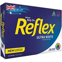 REFLEX A4 ULTRA WHITE COPY PAPER 80GSM WHITE PACK 500 SHEETS