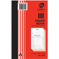OLYMPIC 639 ORDER BOOK CARBON TRIPLICATE 100 LEAF 200 X 125MM