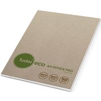 TUDOR ECO 1 RECYCLED OFFICE PAD 7MM RULED 100 PAGE A4